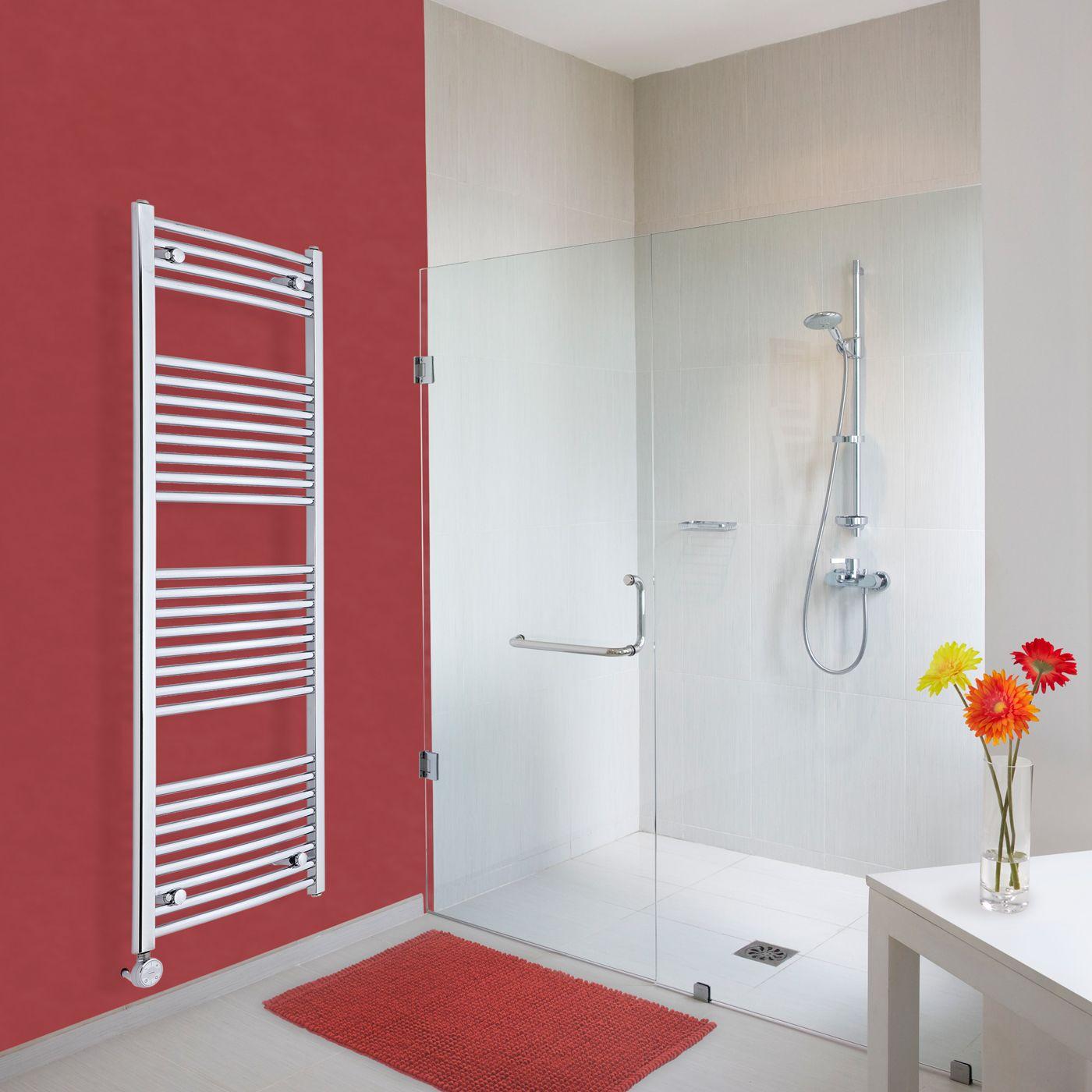 hudson reed s che serviettes lectrique incurv chrom ischia 150cm x 50cm x 4 5cm. Black Bedroom Furniture Sets. Home Design Ideas
