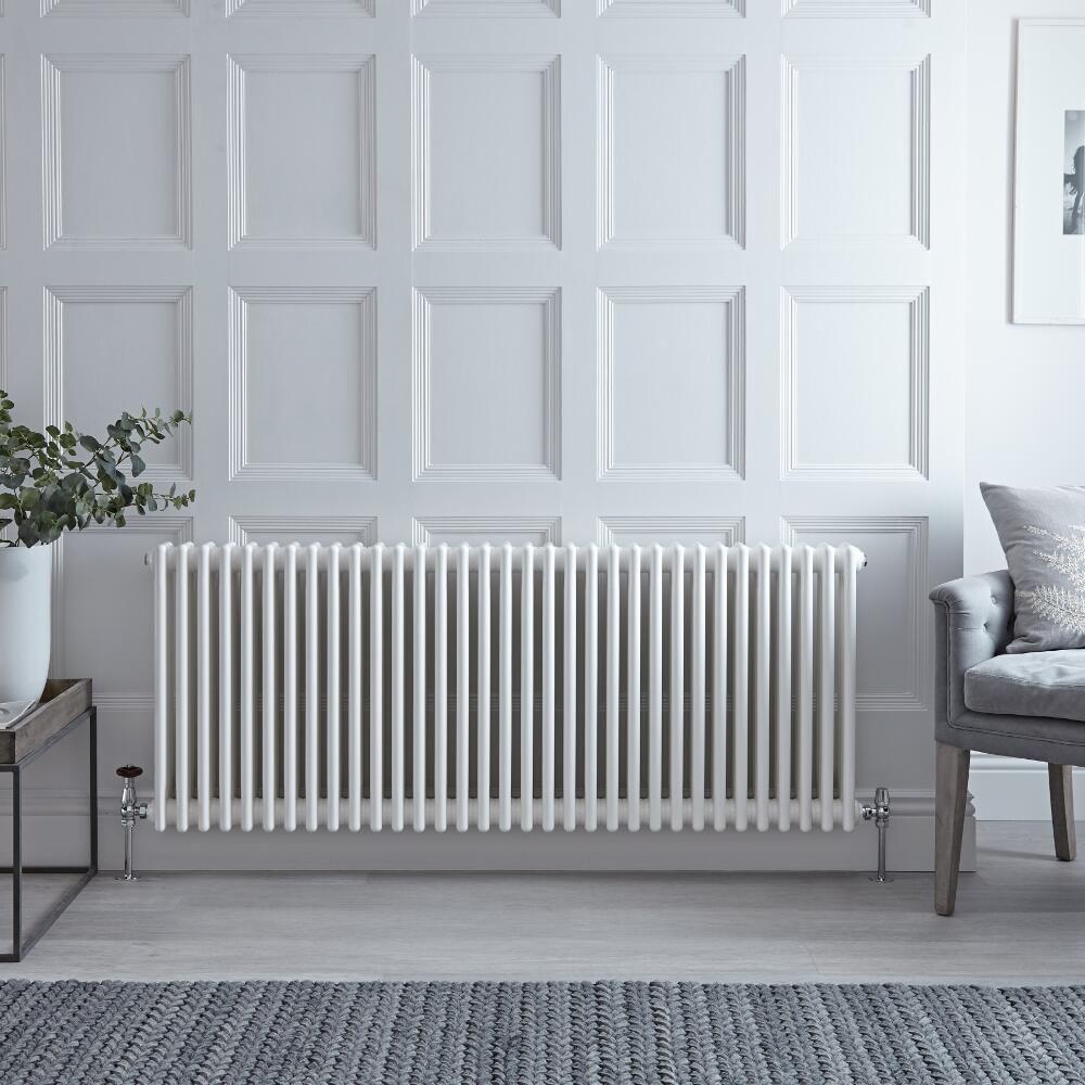 radiateur horizontal style fonte blanc windsor 60cm x 147cm x 10cm 2412 watts. Black Bedroom Furniture Sets. Home Design Ideas