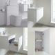 Meuble Lavabo Newington 60cm Blanc Mat - Pack WC & Miroir