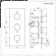 Mitigeur thermostatique encastrable 2 fonctions différenciées noir - Pomme de douche 30x30cm & douchette - Nox