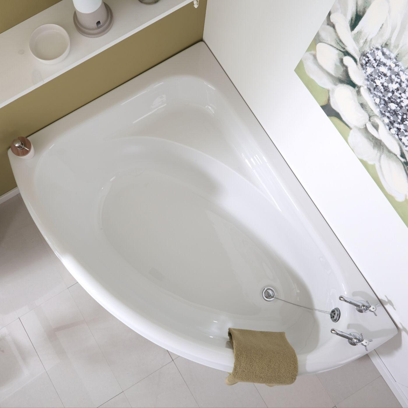 Baignoire d 39 angle gauche 150x102cm - Installer une baignoire d angle ...