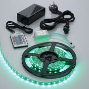 Biard Kit Ruban LED 5050 Blanc & RGB Brillant 5m