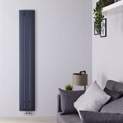 Radiateur Design Vertical Raccordement Central Aluminium Anthracite Aurora 160cm x 28cm x 4,6cm 1021 Watts