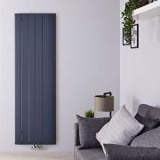 Radiateur Design Vertical Raccordement Central Aluminium Anthracite Aurora 160cm x 56,5cm x 4,6cm 2042 Watts