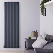 Radiateur Aluminium Design Anthracite 180 x 59cm 2506 watts Vitality Air