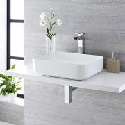 Vasque à poser rectangulaire Milton 50 x 39cm & Mitigeur Haut Cascade