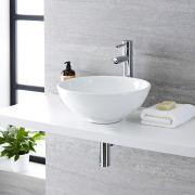 Vasque  à poser ronde Ø 40cm Ashbury & Mitigeur Haut