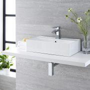 Vasque à poser 55 x 31cm Halwell & Mitigeur Wick