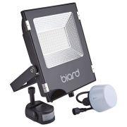 Biard Projecteur LED Noir 50 Watts avec détecteur IP65