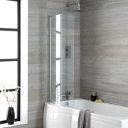 Pare baignoire douche incurvé – 140 cm x 80 cm – Portland