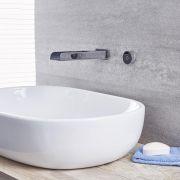 Bec verseur mural pour baignoire ou lavabo avec commande digitale – chromé – Parade