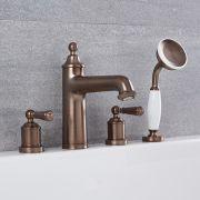 Robinet bain douche Rétro Bronze Huilé - Colworth