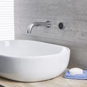 Bec verseur mural pour baignoire ou lavabo avec commande digitale – chromé - Mirage