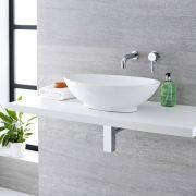 Vasque  à poser ovale 52 x 32cm Kenton & Mitigeur Mural Mirage