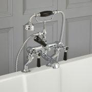 Robinet bain douche rétro – Commandes à leviers – Chromé et noir - Elizabeth