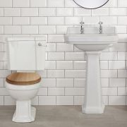 WC rétro - Abattant Noyer - Legend