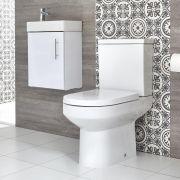 Ensemble meuble-lavabo suspendu et pack WC – 40 cm – Choix de finition - Covelly
