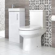 Ensemble meuble lave-mains à poser et pack WC – 40 cm - Choix de finitions - Covelly