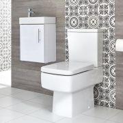 Ensemble meuble lave-mains suspendu et pack WC – 40 cm – Choix de finition - Exton