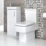 Ensemble meuble lave-mains à poser et pack WC – 40 cm – Choix de finitions – Exton