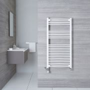 Sèche-Serviettes Mixte Incurvé Blanc Etna 120cm x 60cm x 5cm 766 Watts