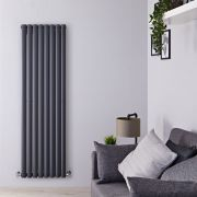 Radiateur Design Vertical Anthracite Vitality 160cm x 47,2cm x 7,8cm 1638 Watts
