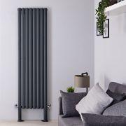Radiateur Design Vertical avec Pieds de Support Anthracite Vitality Plus 180cm x 47,2cm x 7,8cm 1638 Watts