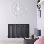 Radiateur Design Horizontal Anthracite Sloane 63,5cm x 100cm x 5,4cm 1022 Watts