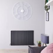 Radiateur Design Horizontal Anthracite Sloane 63,5cm x 100cm x 7,1cm 1587 Watts