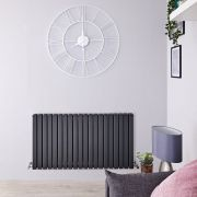 Radiateur Design Horizontal Anthracite Sloane 63,5cm x 120cm x 7,2cm 1867 Watts