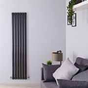 Radiateur Design Vertical Noir Vitality 160cm x 35,4cm x 5,6cm 841 Watts