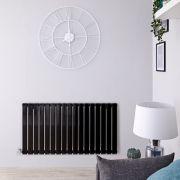 Radiateur Design Électrique Horizontal Noir Delta 63,5cm x 119cm x 4,6cm