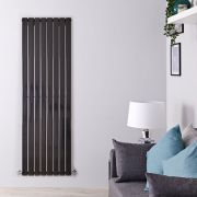 Radiateur Design Vertical Noir Delta 160cm x 56cm x 4,7cm 1172 Watts