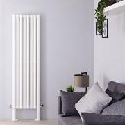 Radiateur Design Vertical avec Pieds de Support Blanc Vitality Plus 180cm x 47,2cm x 7,8cm 1638 Watts