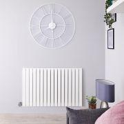 Radiateur Design Électrique Horizontal Blanc Sloane 63,5cm x 100cm x 5,4cm