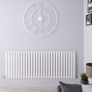 Radiateur Design Horizontal Blanc Vitality 63,5cm x 164,7cm x 5,6cm 1671 Watts