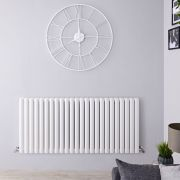 Radiateur Design Horizontal Blanc Vitality 63,5cm x 141,1cm x 7,8cm 2236 Watts