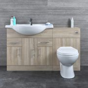Meuble-lavabo & Toilette WC 85x78x48cm Classic Oak