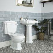 Lavabo sur colonne 1 Trou & Pack WC Rétro Oxford