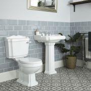 Lavabo sur colonne 3 Trous & Pack WC Rétro Oxford