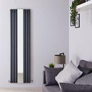 Radiateur Design Vertical Anthracite Vitality 180cm x 49,9cm x 10,5cm 1613 Watts