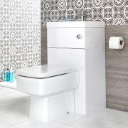 WC avec Lave Main Cubique Blanc