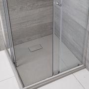 Receveur de douche carré gris perle 90x90cm - Rockwell