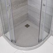 Receveur de douche gris perle quart de rond 90cm - Rockwell