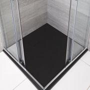 Receveur de douche carré Anthracite 80x80cm - Rockwell