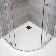 Receveur de douche blanc quart de rond 90cm - Rockwell