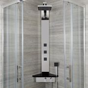 Colonne de douche d'Angle Thermostatique Alcove