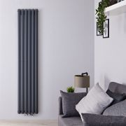 Radiateur Design Vertical 178 x 35.4cm Vitality Caldae Anthracite 1301 watts