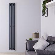 Radiateur Design Électrique Vertical Anthracite Vitality 178cm x 23,6cm x 5,6cm