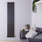 Radiateur Design Vertical Noir Vitality 178cm x 35,4cm x 5,6cm 892 Watts